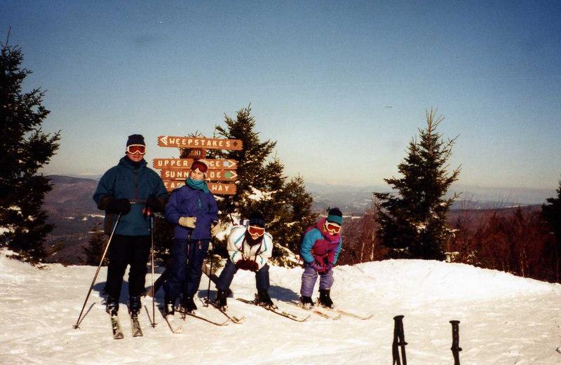 Keith, Kristen, Sarah & Janine Stickney on the slopes