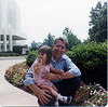 Kristen and Gandpa MacDonald at the Washington D.C. temple