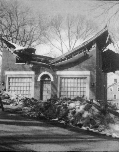Stockbridge Store Roof Collapsed
