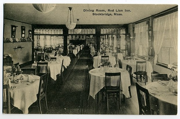 Stockbridge Red Lion Dining Rm 1922