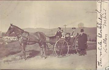 Stockbridge Family in Wagon