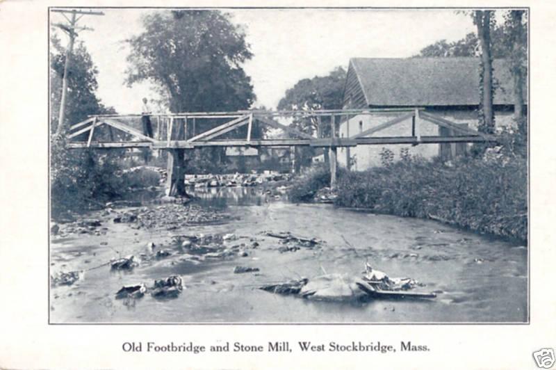 Stockbridge Footbridge & Stone Mill