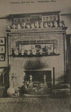 Stockbridge Red Lion Fireplace 1910