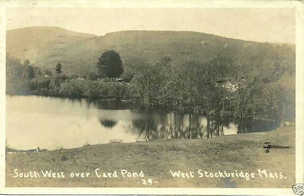 West Stockbridge So West over Card Pond RPPC