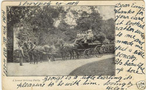 Stockbridge Horse Carriage Drivers 1907