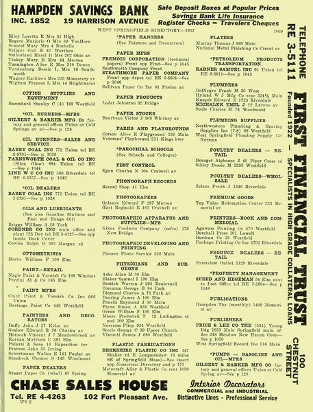West Springfield Bus Directory 1957 07