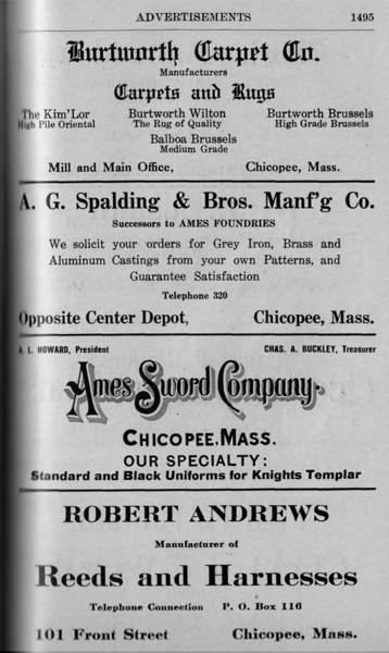 Chicopee Directory Ads 1917 05