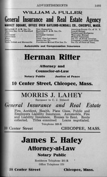 Chicopee Directory Ads 1917 03
