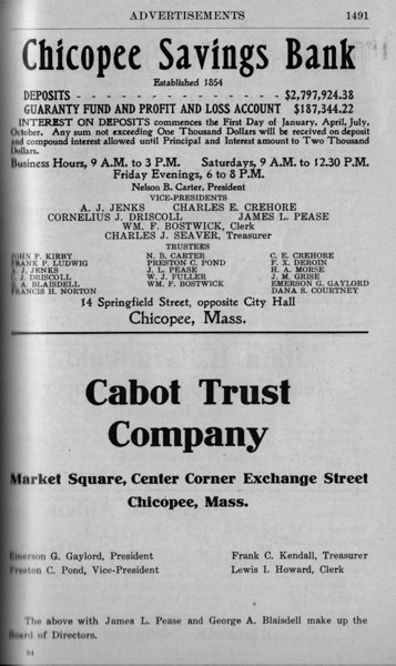 Chicopee Directory Ads 1917 01