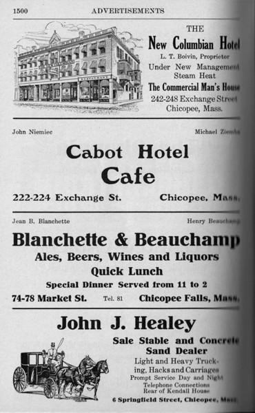 Chicopee Directory Ads 1917 10