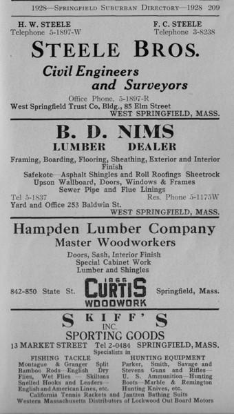 Suburban Directory Ads 1928 27