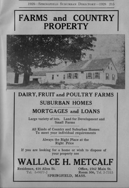 Suburban Directory Ads 1928 33