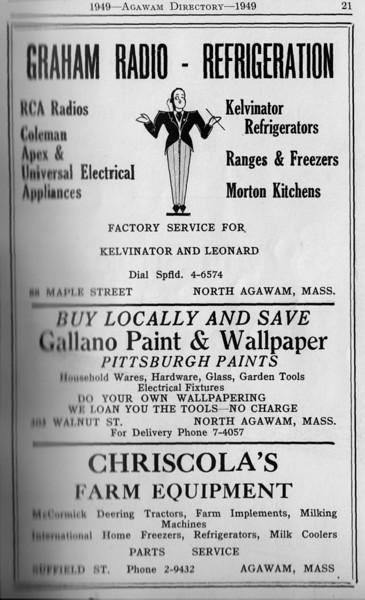 Agawam Directory Ads 1949 04