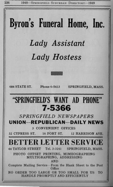 Suburban Directory Ads 1949 31