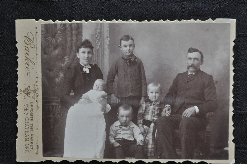 Silver Gelatine Print on Scalloped Cabinet Card Stock; Photographer: J. T. Baikie, Chatham, Kent, ON