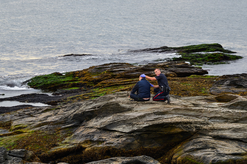 Beavertail Rescue On The Rocks By the Jamestown Fire Department