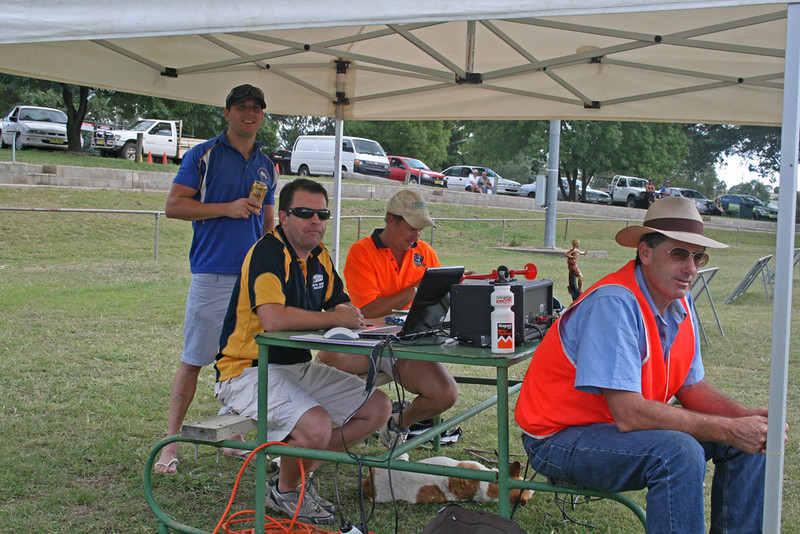 """""""Swoop"""", Greg Weller, Michael and Grant Whitechurch at the 2011 Binalong 9's Tournament."""