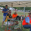 """Swoop"", Greg Weller, Michael and Grant Whitechurch at the 2011 Binalong 9's Tournament."