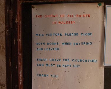 How many churches have a sign like this in the porch?