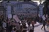 4*Thu, Feb 13, 1969<br /> *People: crowd, cops<br /> Subject: <br /> *Place: sather gate<br /> Activity: twlf<br /> Comments: FBI people on roofs of student union