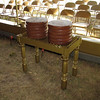 The altar of the showbread. The 12 loaves that were replaced daily to symbolize the 12 tribes of Israel. Interestingly enough, there are 2 stacks of 6 which could symbolize the two testaments of the bible, etc.