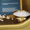 Closeup of the bowl of Manna and Aaron's budding rod.