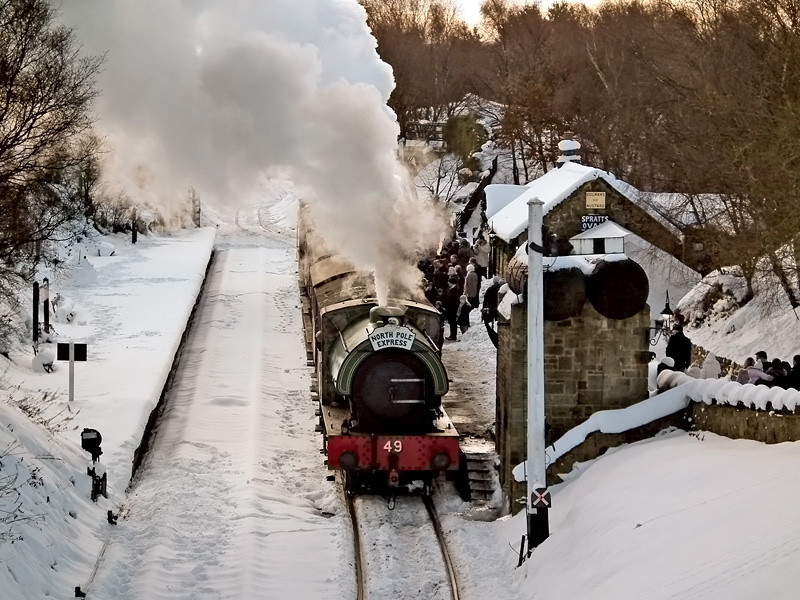 North Pole Express; Tanfield in the snow