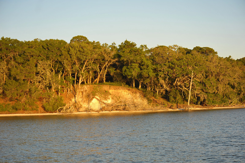 Terrapin Point on Cumberland Island, Georgia on the Intracoastal Waterway (ICW) - 04-29-11 - Note severe erosion in the bluff