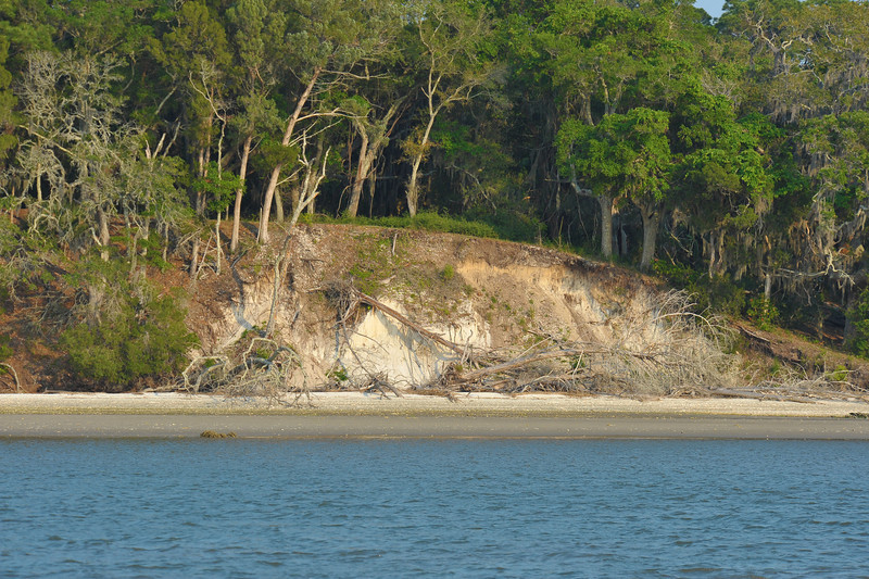 Terrapin Point on Cumberland Island, Georgia on the Intracoastal Waterway (ICW) - 05-10-11 - Note severe erosion in the bluff