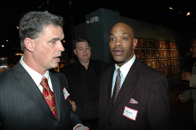Mark Nale and Calvin Alexander chat before the event.