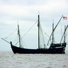 "The ""Nina"" Reproduction Sailing Ship in St Andrews Sound between Little Cumberland Island and Jekyll Island, Georgia on the ICW"