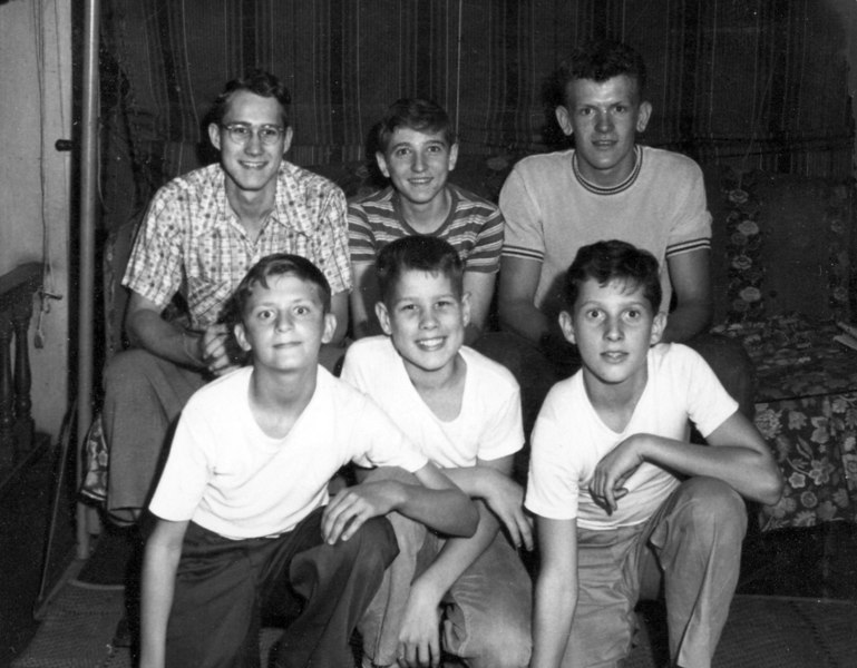 Cira 1948<br /> Front:  Pudgy, George, Buster<br /> Rear:   Walt, Chuck, Knobby
