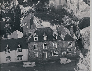 Taken around 1966 an overhead shot of The Red House or Post Office