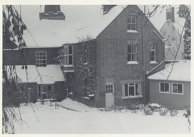 More snow in the back garden, notice the shed on the right that was later demolished in the 80's