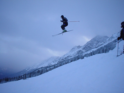 Cat skiing at Fortress on a cold November day