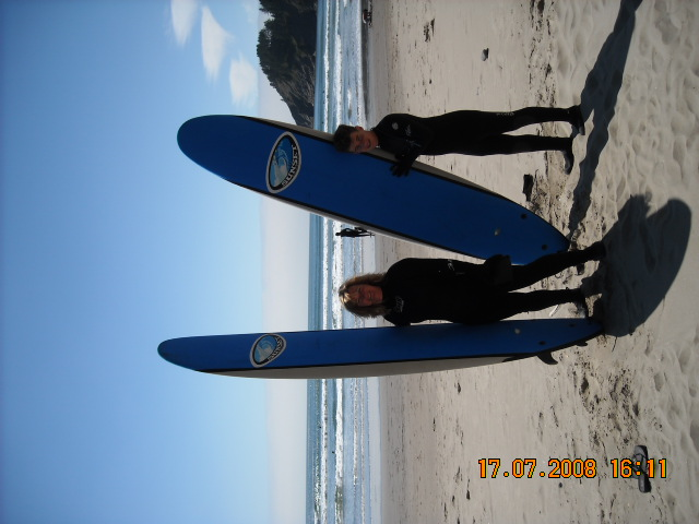Surfing the NEXT DAY on the Oregon coast