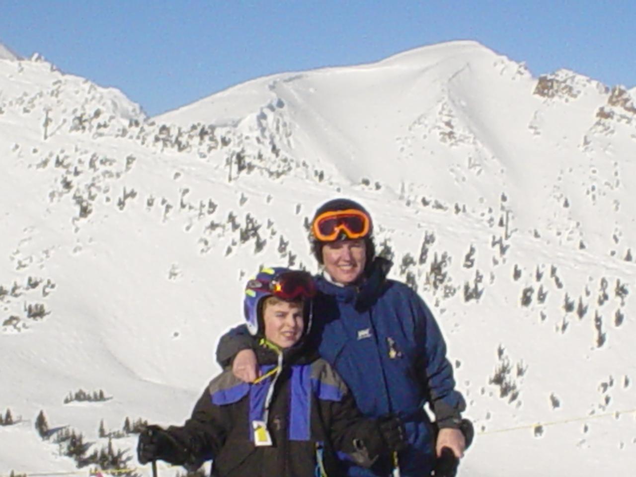 Skiing at Kicking Horse