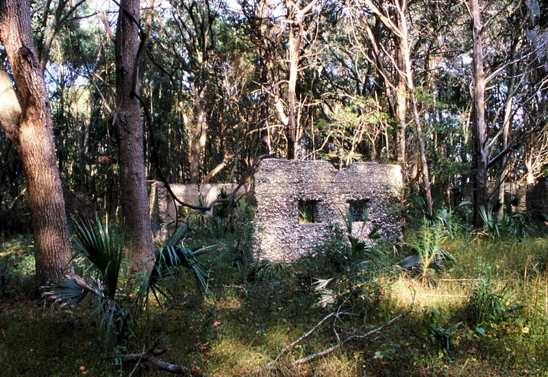 10 Tabby slave house ruin in the Thicket in McIntosh County, Georgia