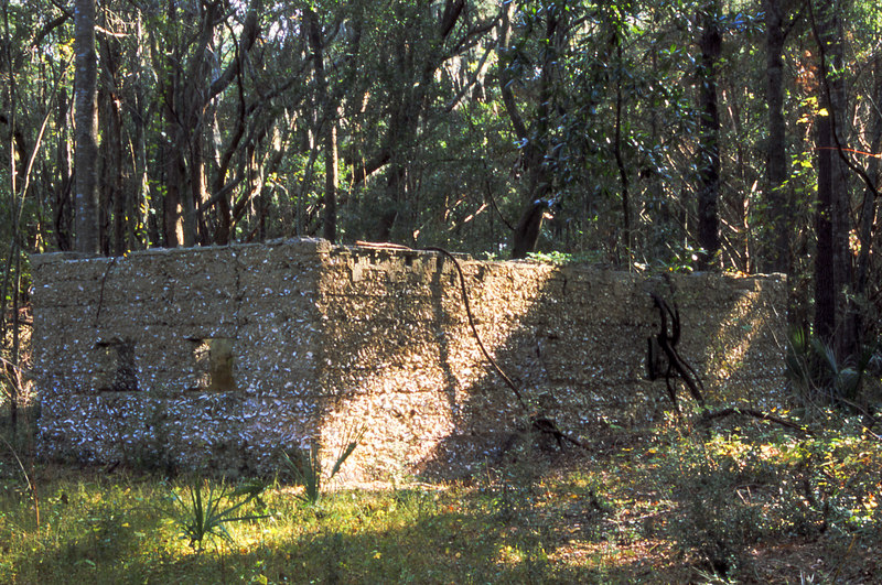 04 Tabby slave house ruin in the Thicket in McIntosh County, Georgia