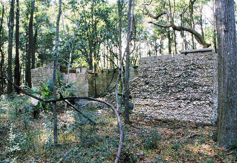 11 Tabby slave house ruin in the Thicket in McIntosh County, Georgia