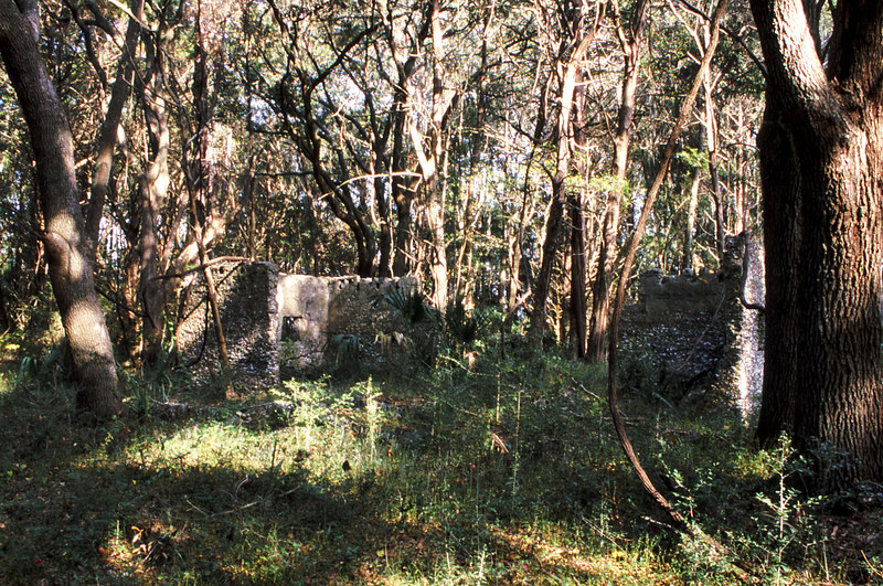 06 Tabby slave house ruin in the Thicket in McIntosh County, Georgia