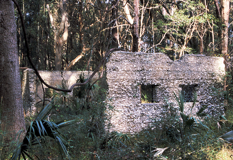09 Tabby slave house ruin in the Thicket in McIntosh County, Georgia