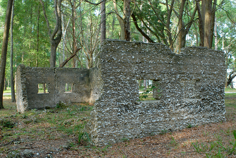07 Slave Quarters and Distillery and Two Secondary Buildings or Sugar Mill ruins in the Thicket in McIntosh County, Georgia Carnochan Area