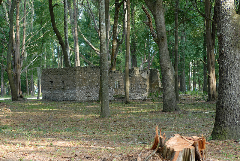 03 Slave Quarters and Distillery and Two Secondary Buildings or Sugar Mill ruins in the Thicket in McIntosh County, Georgia Carnochan Area