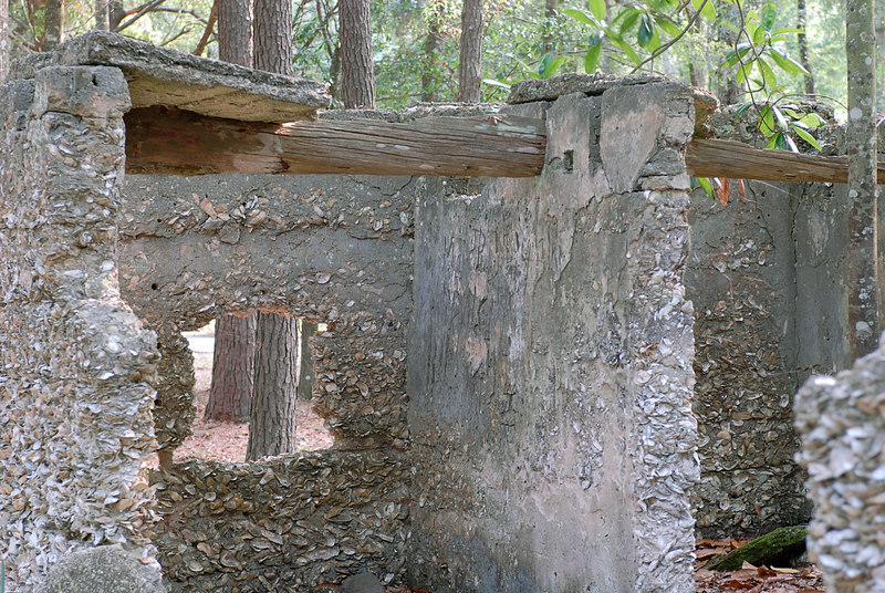 11 Slave Quarters and Distillery and Two Secondary Buildings or Sugar Mill ruins in the Thicket in McIntosh County, Georgia Carnochan Area