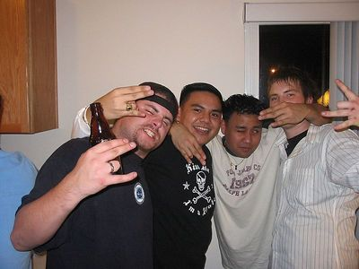 Getting faded at Kevin's birthday party!