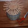 A finished basket woven by Frank Weese with the beginnings of its cover.