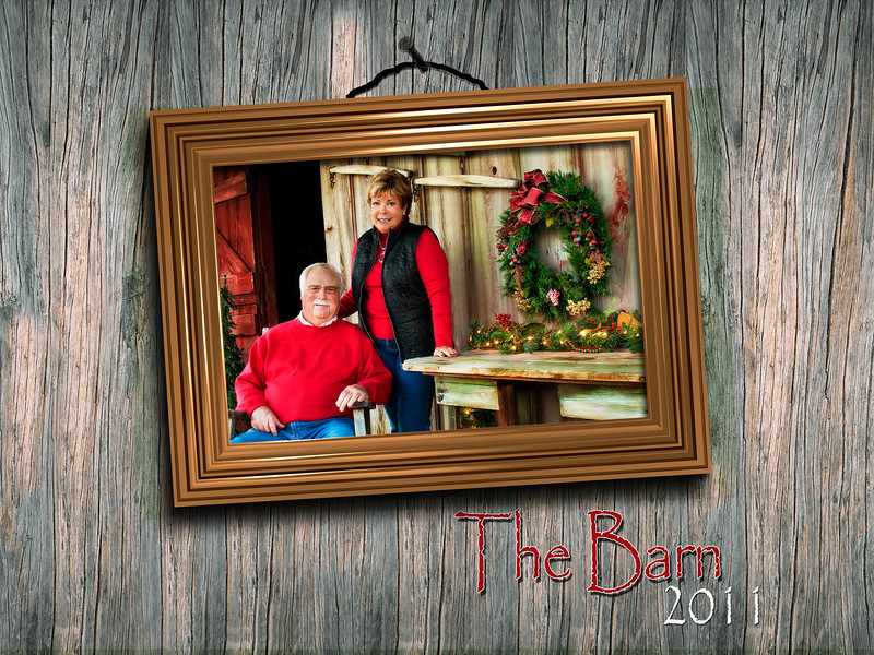 This is the cover page for a calendar produced of a locally restored barn.