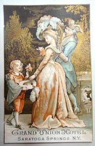 1882 Ad Card Saratoga Springs Grand Union Hotel