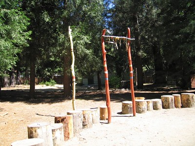 Dance circle, east.  Tongva Village reconstruction,  2 Jul 2005.